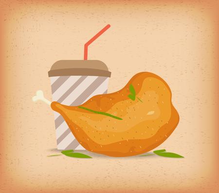 thighs: chicken thighs Illustration
