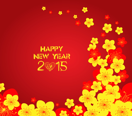 Chinese New Year - Greeting card design Vector
