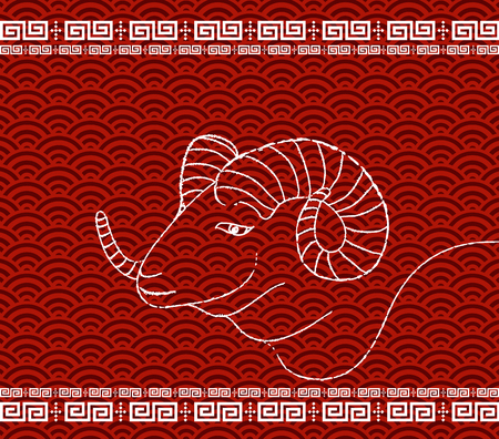 chinese new year background of the goat Illustration