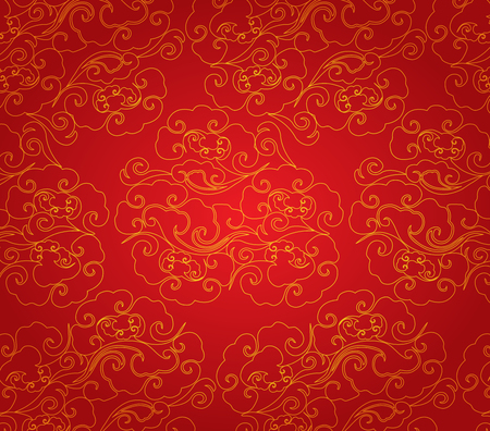 cloud abstract chinese new year background Çizim