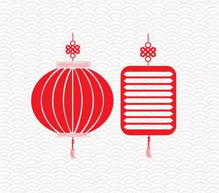 fortuna: Two red chinese lantern garland