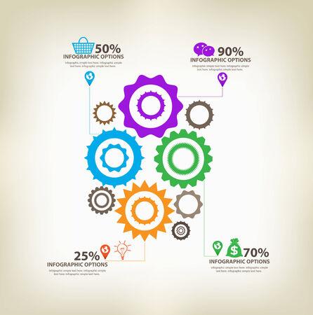 axis: engranajes infogr�ficas con eje