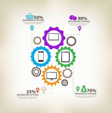 mechaninc: infographic gears Digital Technology