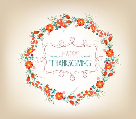 thankgiving heureux avec carte feuilles de voeux