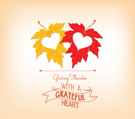 thanksgiving day: thankgiving with hearts greeting card