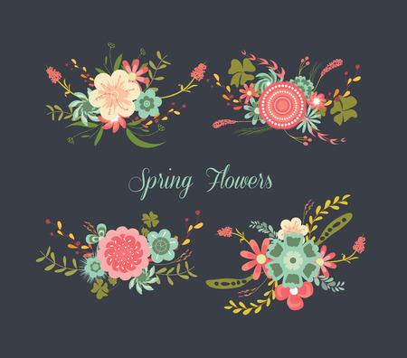 laurels: Chalkboard Spring Flowers