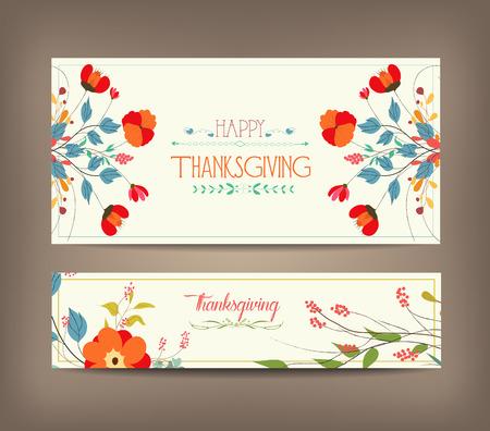 seasons greetings: Floral background carta di ringraziamento di auguri
