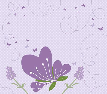 formal garden: abstract springtime purple Illustration