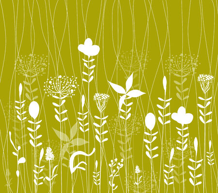 formal garden: Abstract springtime red poppy seamless pattern Illustration