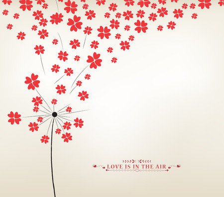 Dandelion hearts Greeting Card Çizim