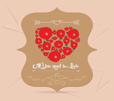 happy valentine greeting card Vector