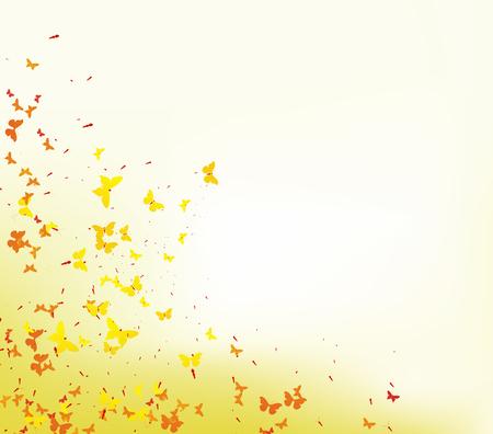 formal garden: colorful butterflies
