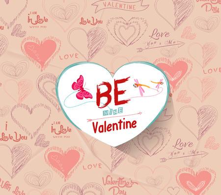saint valentin coeur: �tre valentine mines Illustration