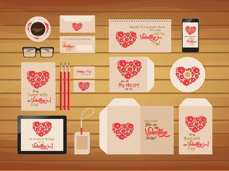brand identity: brand identity valentines style retro