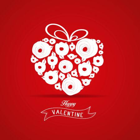 flower rose: valentines gift heart flower rose