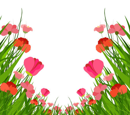 horizon over land: spring flower Illustration