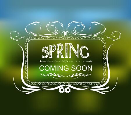 soon: Spring coming soon typographic design