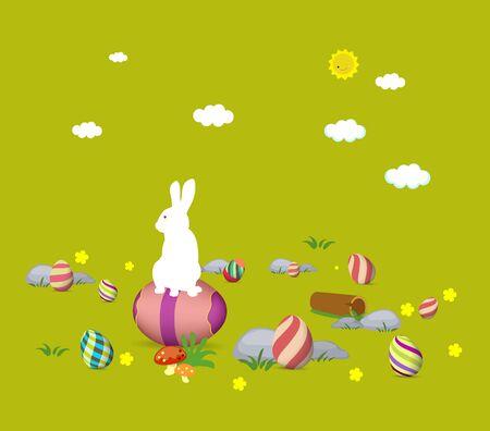 Easter bunny card photo