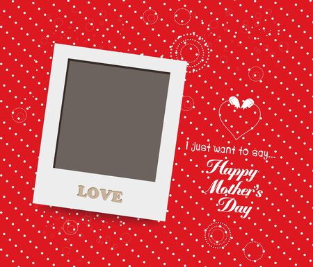 instant photo: Blank instant photo frame lovely on red mothers day
