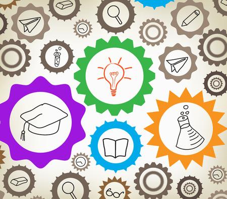 Education mechanism concept background