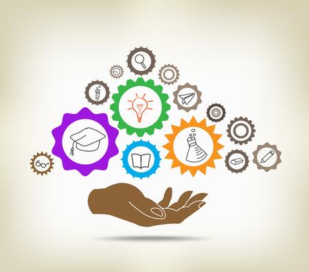 cognition: Education mechanism concept Illustration