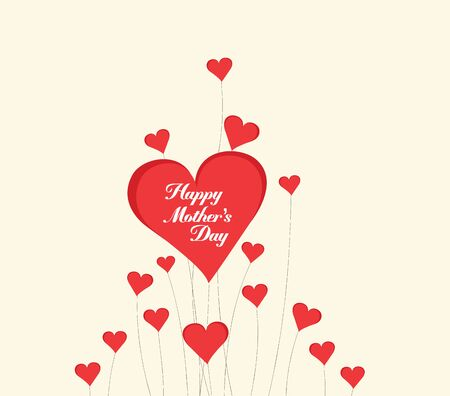 february 14th: Happy Motherss Day with heart card