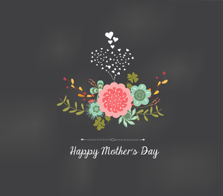 mothers day florals greeting card Çizim