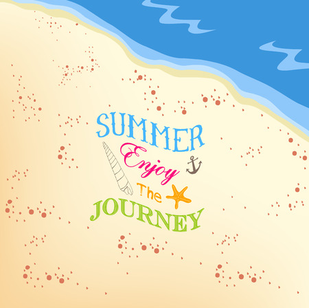 jorney: Summer enjoy the jorney on the beach background Illustration