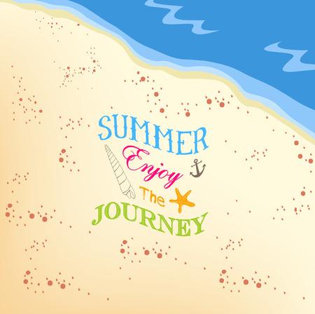 jorney: Summer enjoy the jorney on the beach background Illustration