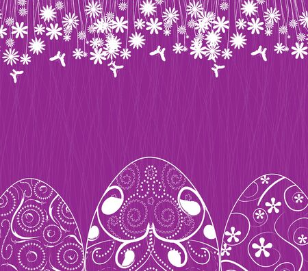 ornamental garden: easter background with eggs ornament
