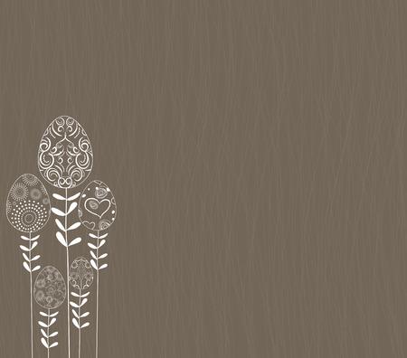 stalks: happy easter with stalks tree eggs background Illustration