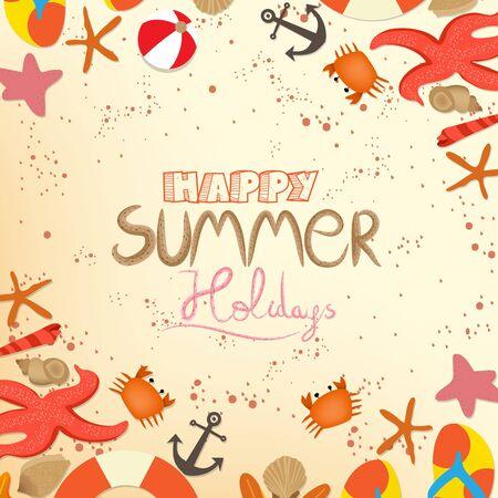 happy summer: happy summer holidays