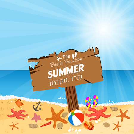 wooden plaque: Wooden plaque with vacation to Summer nature tour