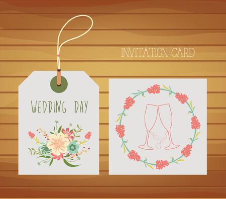 Love design for wedding day Vector