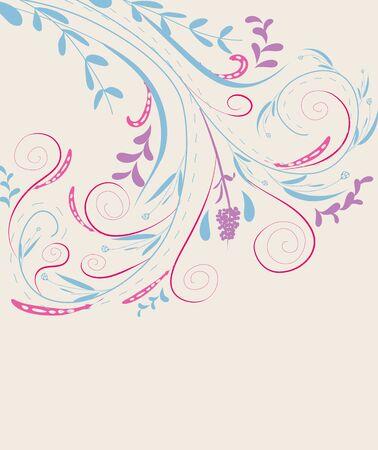doodle florals vintage background Vector