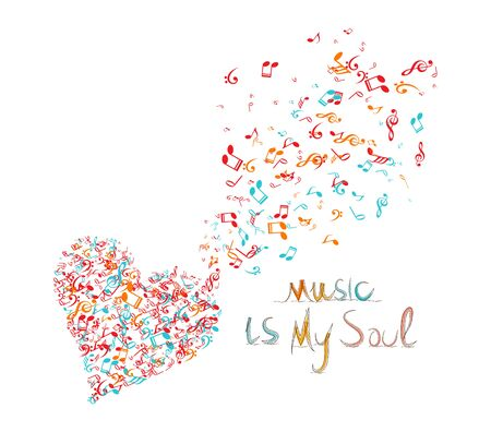 soul music: music is my soul background Illustration