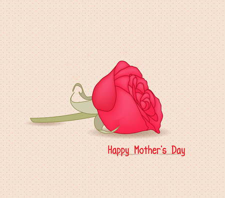 supermom: Happy mothers day with rose flower