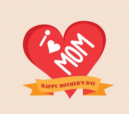 i love mother day Ilustração