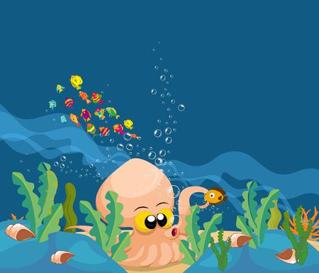 moray: giant squid in the ocean