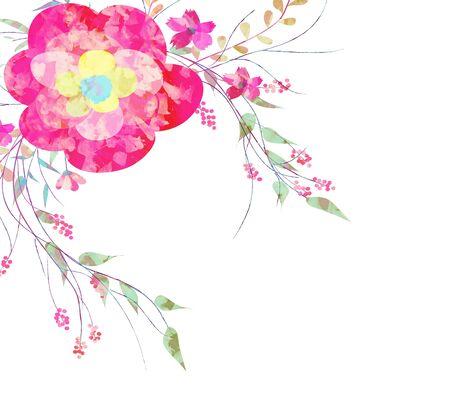 fleurs romantique: Printemps fleurs romantiques, aquarelle