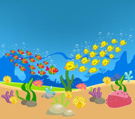 Two groups of individuals met the ocean