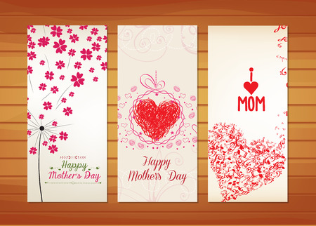 bunch of hearts: Floral and heart Mother Illustration