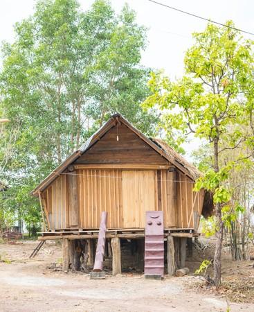 paleolithic: paleolithic thatched huts Stock Photo