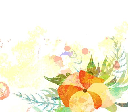 flower banner: Abstract floral background with branch of