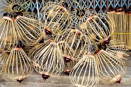 Handcrafted lanterns in Hoi An ancient town, Vietnam Stok Fotoğraf