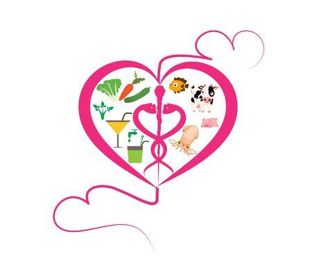healthy lifestyle: Healthy Lifestyle Heart sign