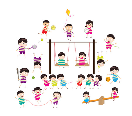obstacle course: sport for kids healthy lifestyle