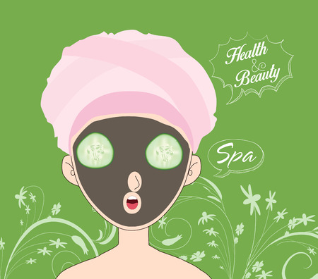 hair mask: spa banner Illustration