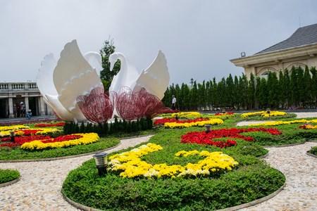 Ba ナ ヒルズ ベトナム ・ ダナンでフラワー ガーデン 写真素材