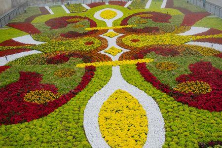 Ba ナ ヒルズ、ベトナム ・ ダナン市のフラワー ガーデン 写真素材